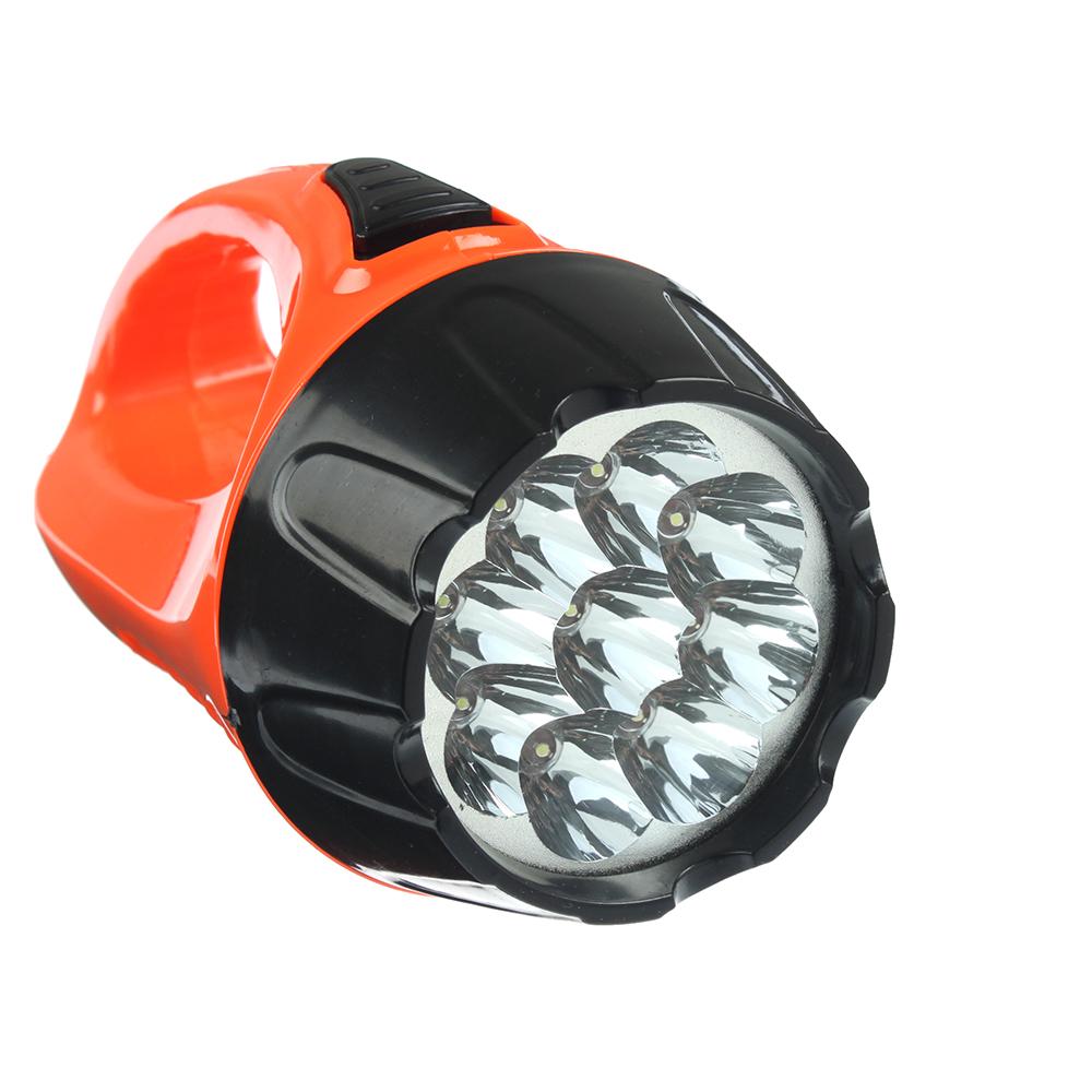 ЧИНГИСХАН Фонарь, 9 LED, 3Вт, 3xAA, 15см, 2 режима, пластик