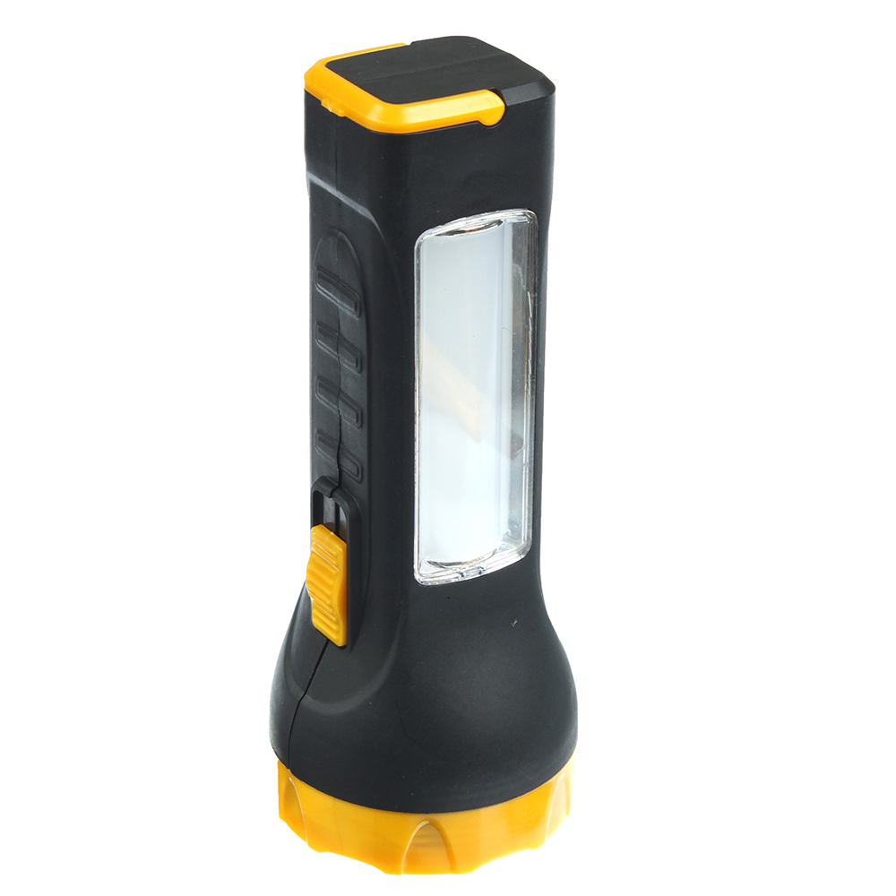 ЧИНГИСХАН Фонарь ручной, 1 LED+7 SMD LED, 1W+3W, 3*AA, 16см, пластик, 2 режима