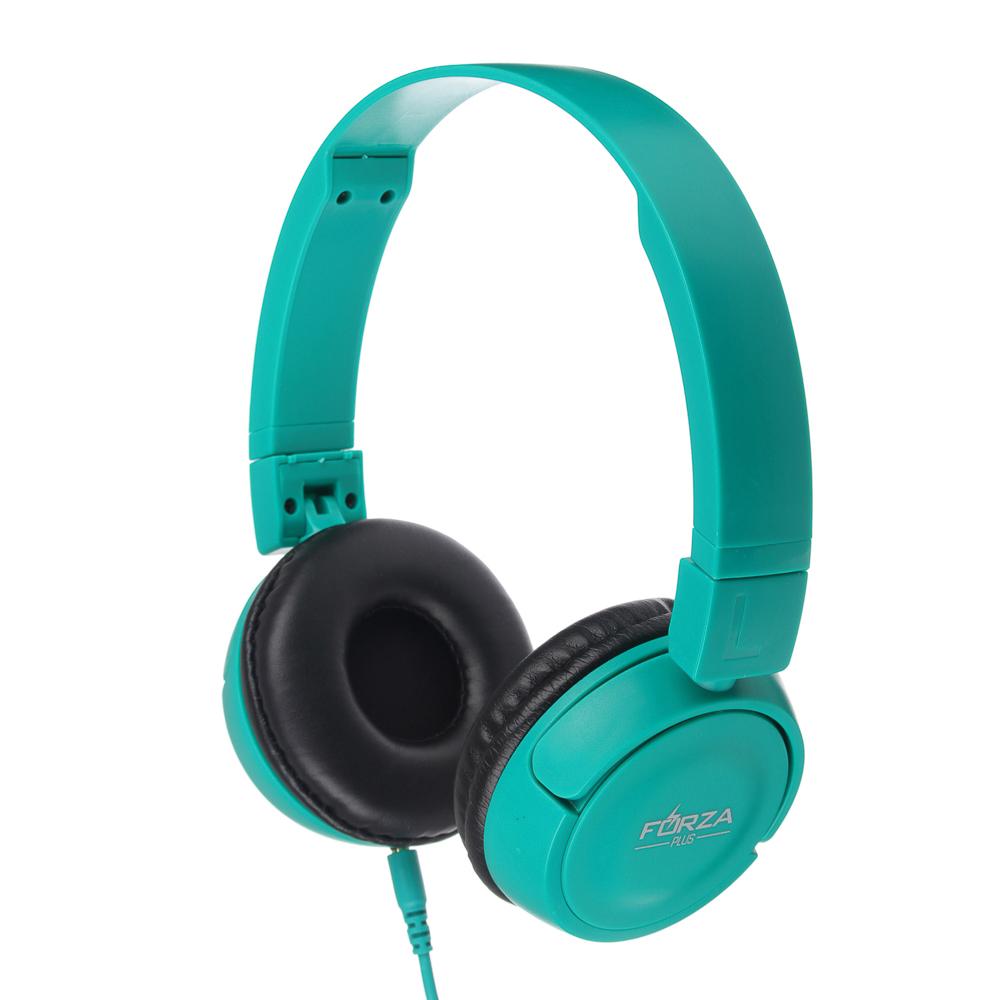 Наушники FORZA с микрофоном полноразмерные, коробка ПВХ, 2 цвета