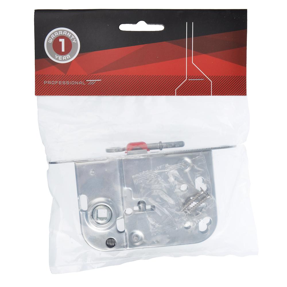 Корпус врезного замка под WC фиксатор/ключ, 45мм, м/о 72мм, SC/матовый хром