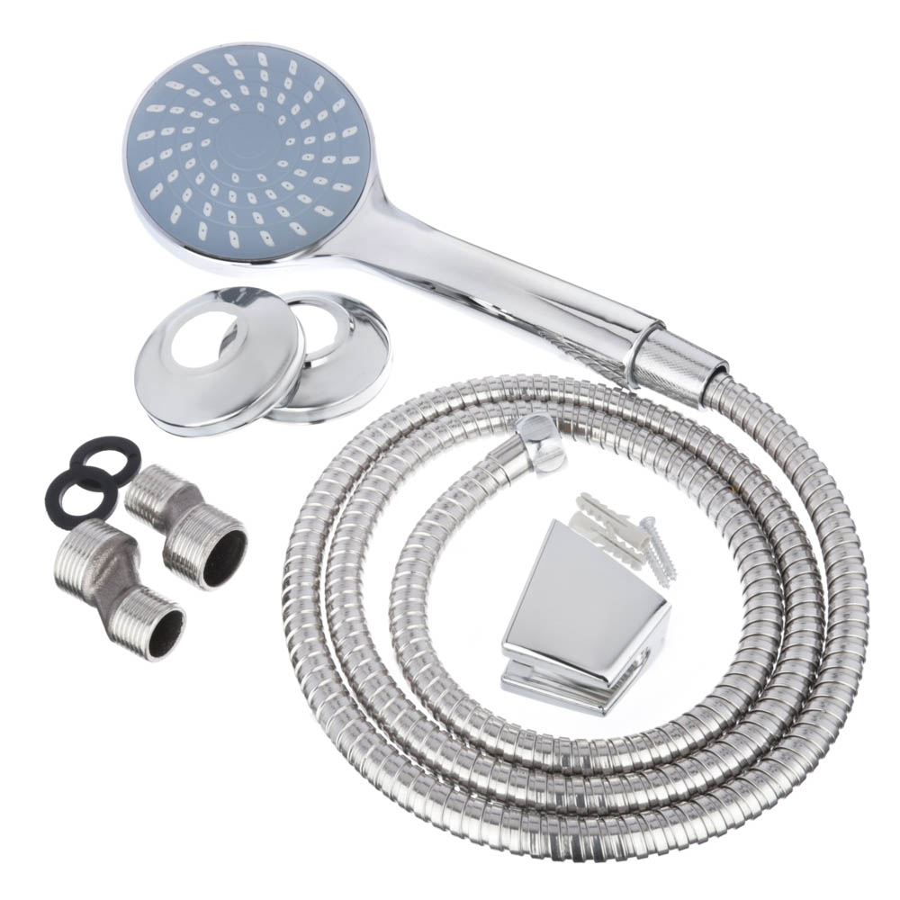 Смеситель для ванны с длинным изливом, керамический дивертор, с душевым комплектом, картридж 35 мм,