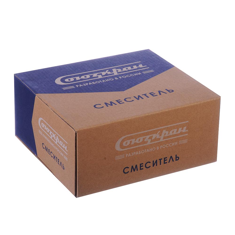 Смеситель для раковины, без подводки, керамические кран-буксы 1/2, шпилька, цинк, СоюзКран SK2011