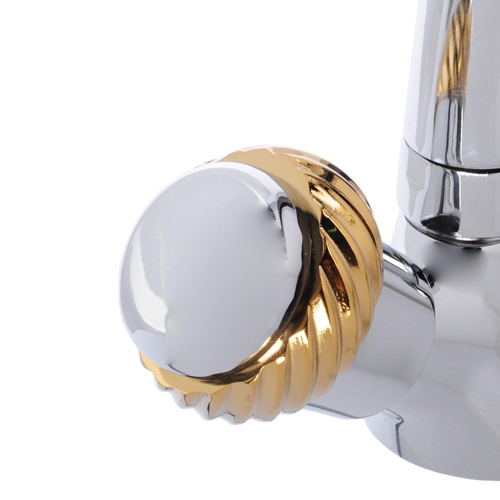 Смеситель для кухни без подводки, керамические кран-буксы 1/2, шпилька, цинк, СоюзКран SK2114