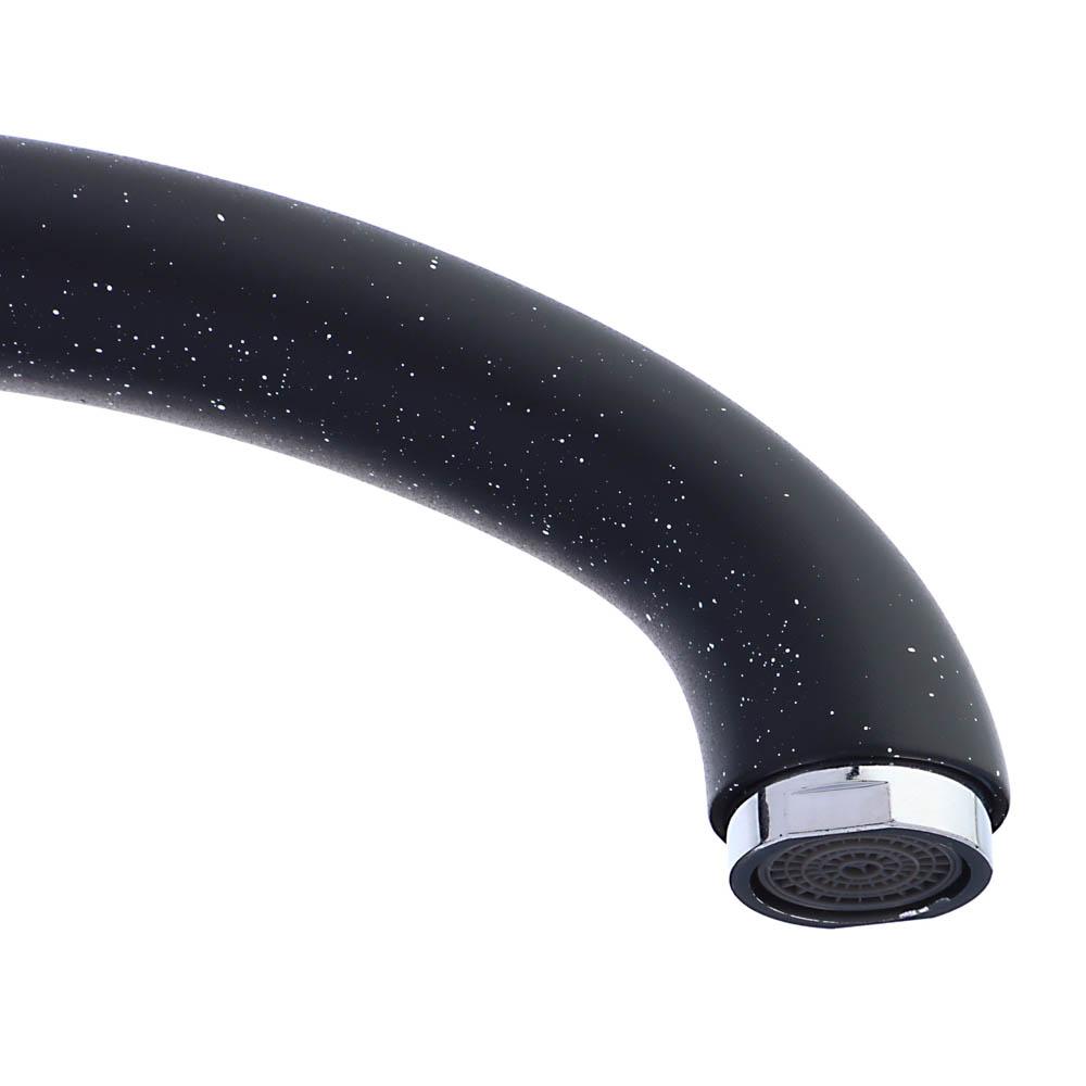 Смеситель для кухни без подводки, картридж 35 мм, шпилька, цинк, черный, СоюзКран SK2194.4