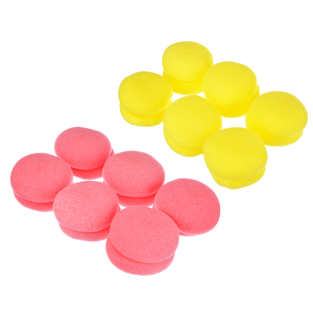 Бигуди для создания локонов, поролон, 5,5х5х2,6 см, 19 гр, 6 шт., 2 цвета