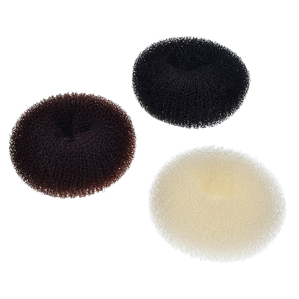 Заколка-бублик для волос, поролон, d5,5 см, 3 цвета