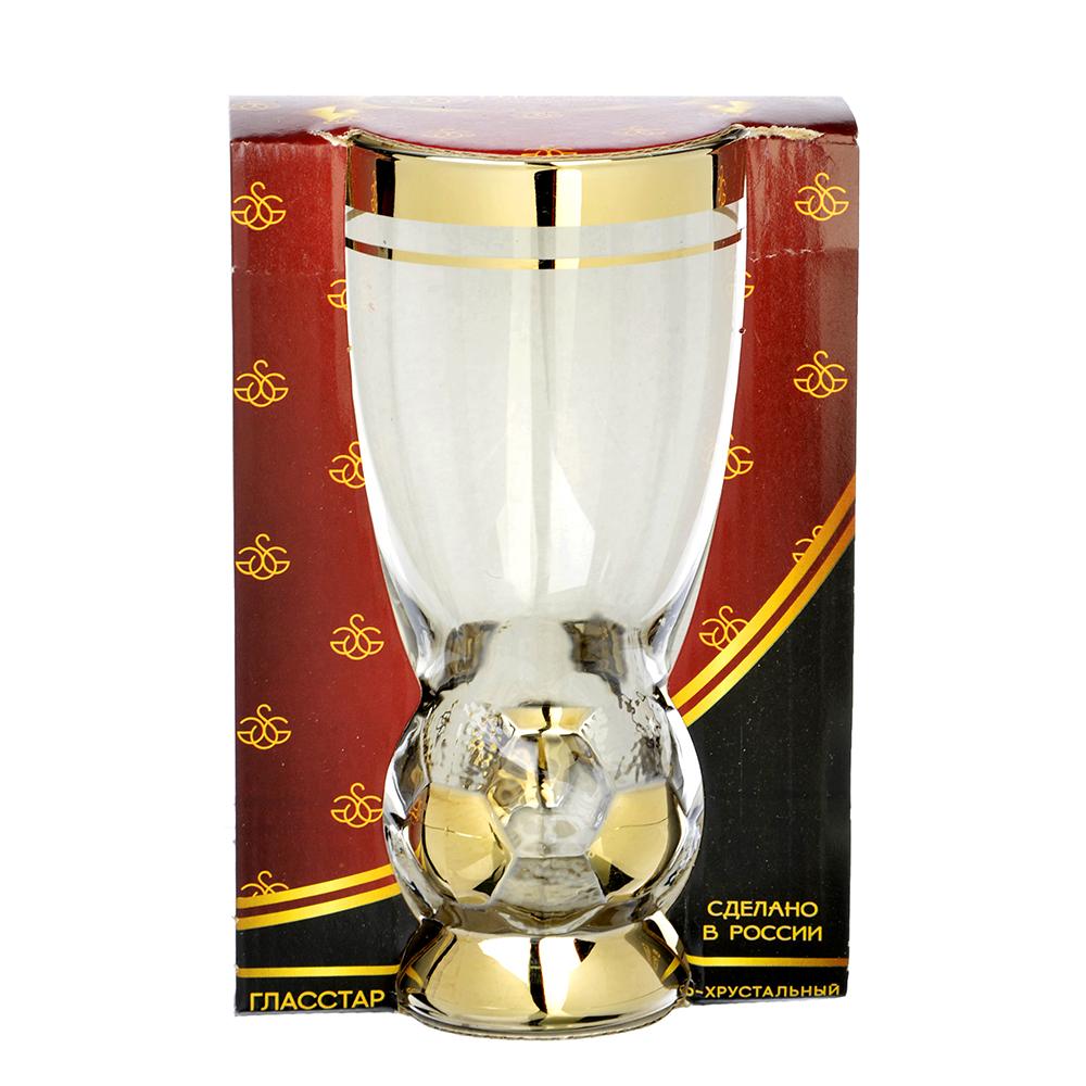 Бокал пивной стеклянный с декором С4052 410мл Н Кубок победителя