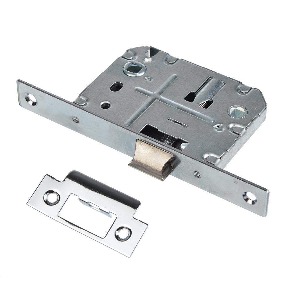 Механизм защёлки с фиксацией 50мм, м/о 70мм, CP(хром)