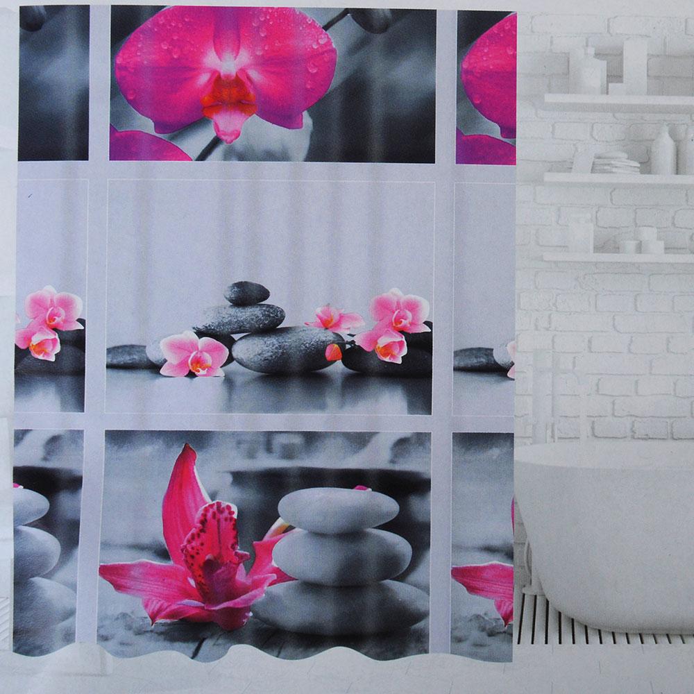SonWelle Шторка для ванной, ПЕВА, 180х180см, 2 дизайна, МИКС