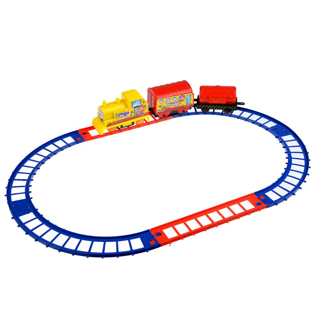 МЕШОК ПОДАРКОВ Поезд с рельсами на батарейках, 1АА, пластик, 23х19х3,5см