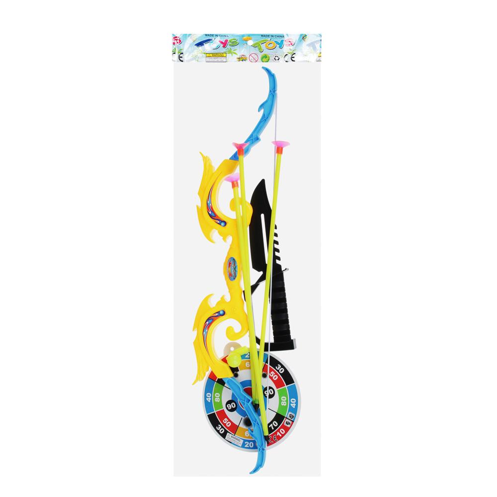Набор игровой Оружие: Лук со стрелами, 6 пр., пластик, 12х53х2см