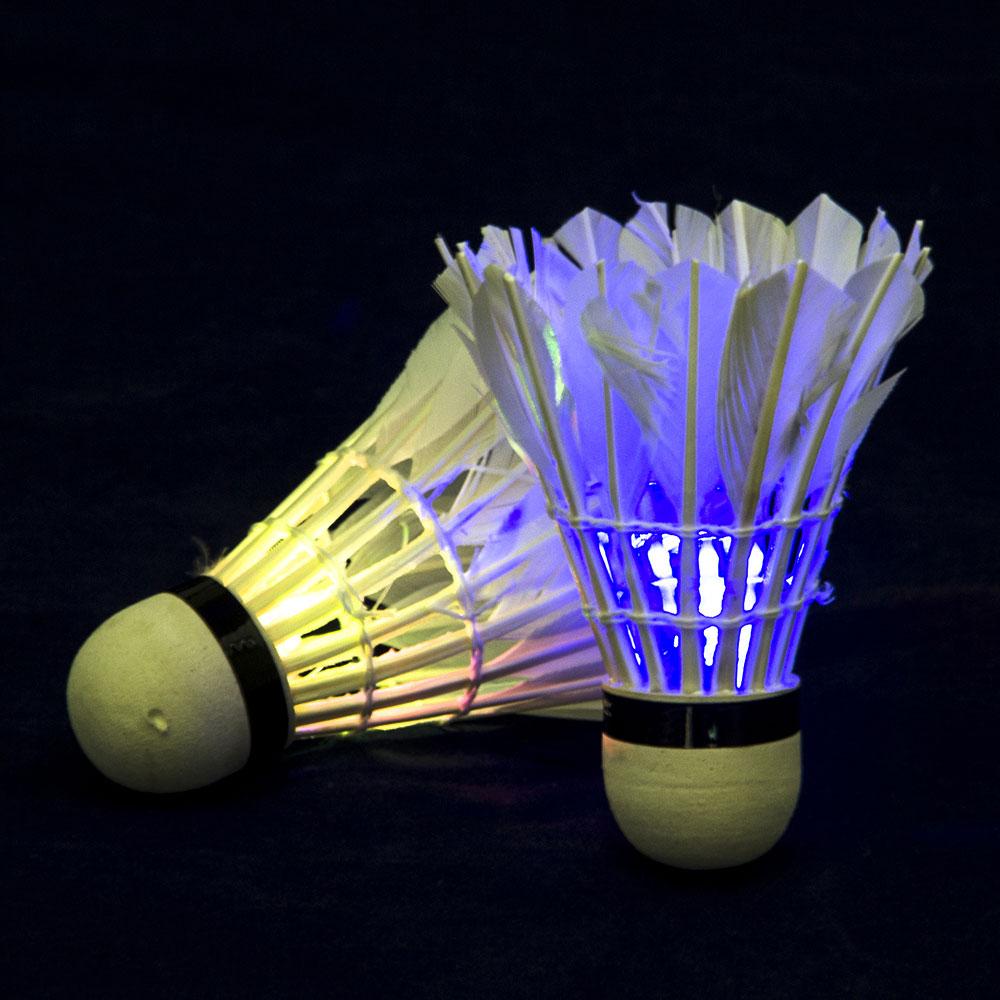 Набор воланов, 2 шт, в тубе, с подсветкой LED, перо, пенопласт, SILAPRO