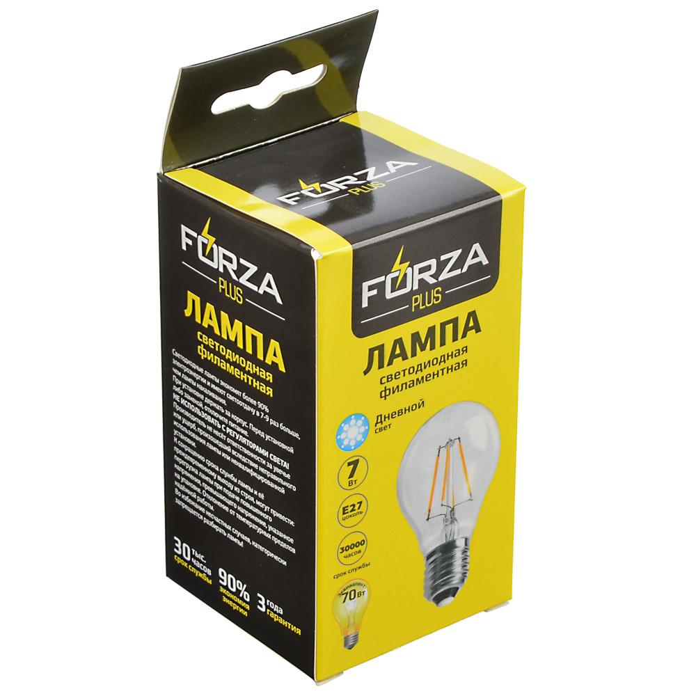 FORZA Лампа филаментная A60, 7W, E27, 560 lm, 4000 K