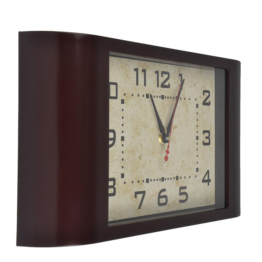 Часы настенные, пластик, 38x22.5x6.3см, 1 x АА, арт.DM 4
