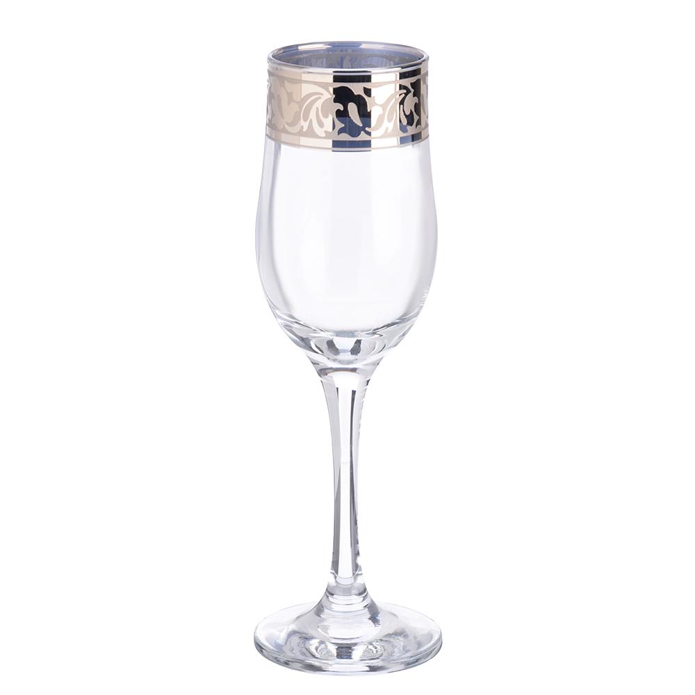 Набор фужеров 6шт для шампанского 200мл, в под/уп, 1712-ГНМ, Жасмин