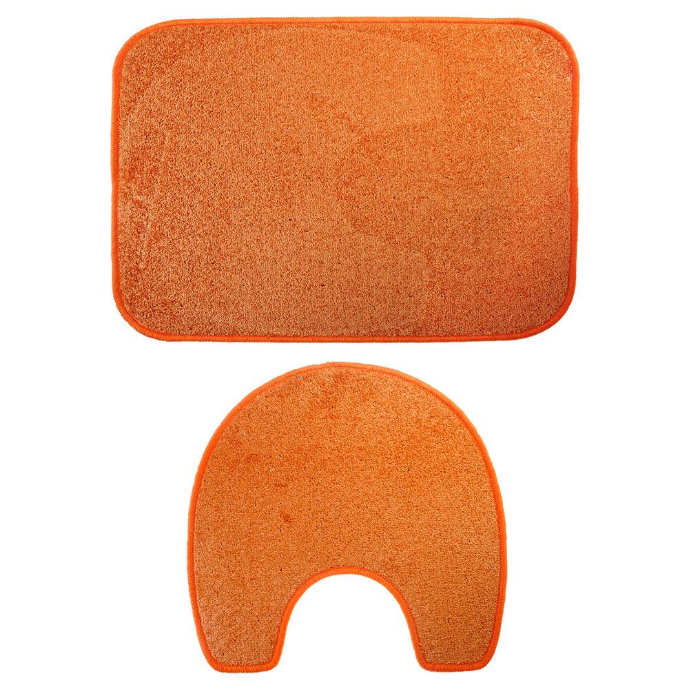 VETTA Набор ковриков 2шт для ванной и туалета, полипропилен, 60х80см + 56х56см