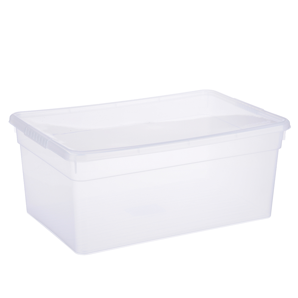 Ящик для хранения с крышкой 10л, полипропилен, 36х25х19 см, BASIC