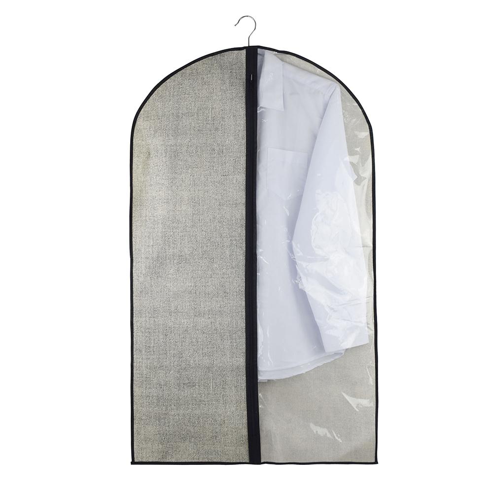 VETTA Чехол для одежды с прозрачным окном, 60х100см, искусственный лен, полиэтилен
