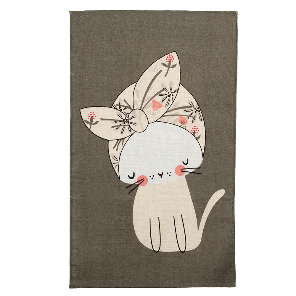 """Кухонное полотенце """"Стиль"""", 100% хлопок, рогожка, 35х61 см, 6 дизайнов"""