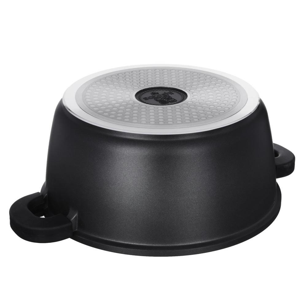 Кастрюля 5,8 л SATOSHI Лион, антипригарное покрытие мрамор, индукция