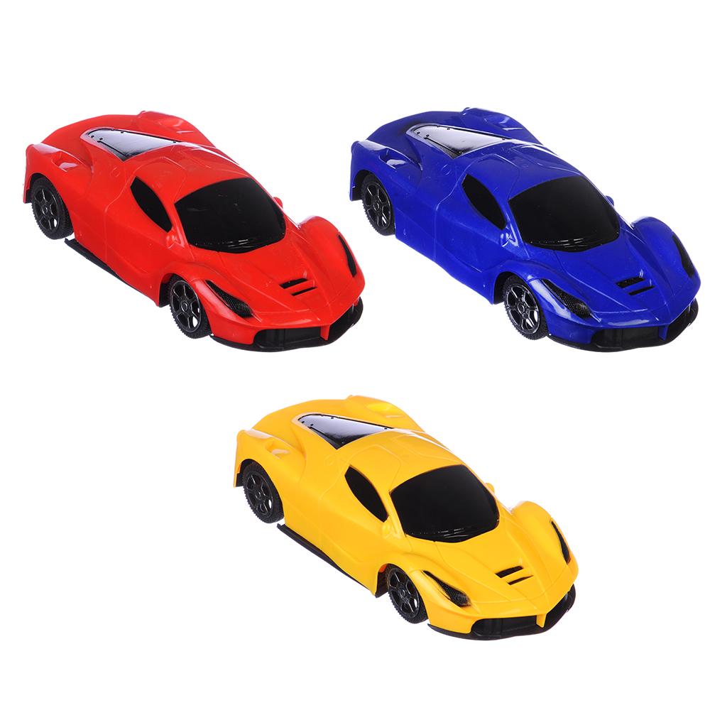 Машина Спортивная, инерционная, пластик, 20х5х8см, 3 цвета
