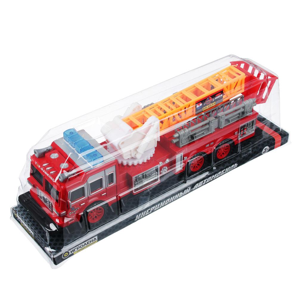ИГРОЛЕНД Пожарная машина 32,5см, инерционная, пластик, 33,5х9,3х8см