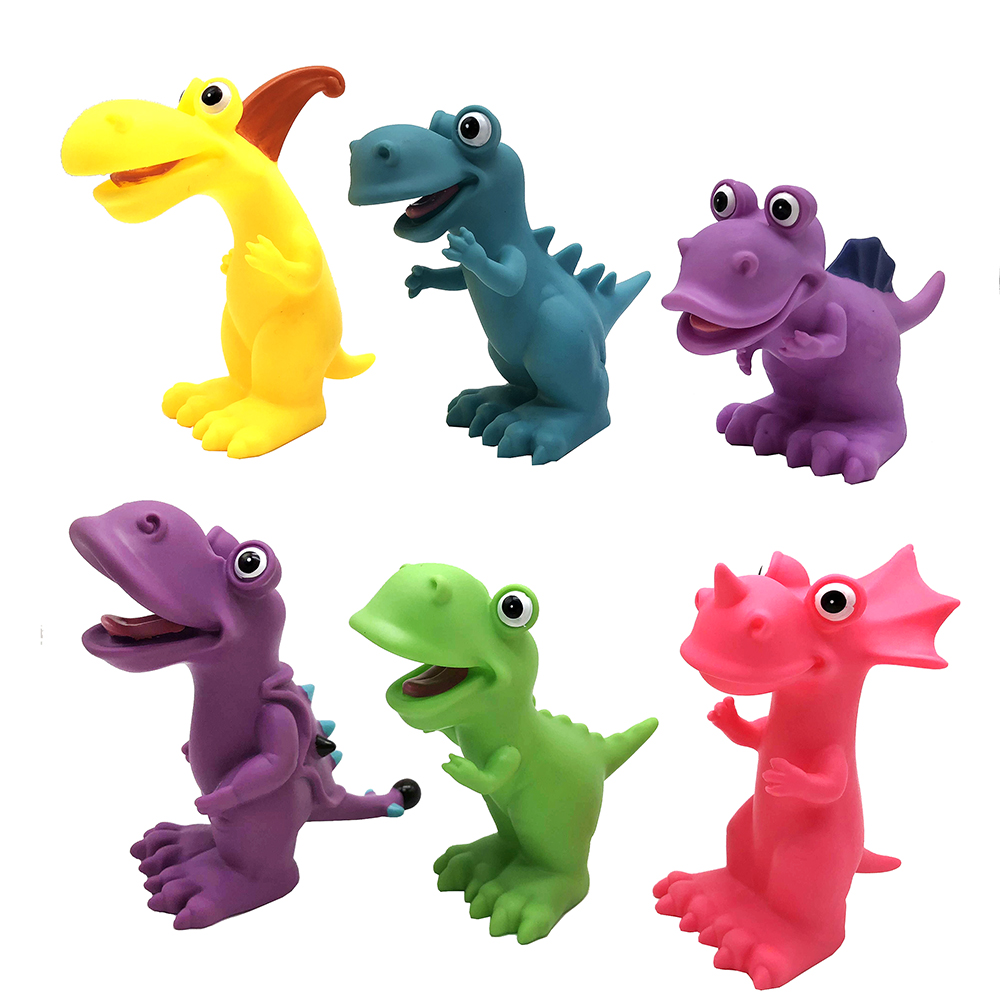 Фигурка в виде Динозавра, пластизоль, 4,5х17х6см, 6 дизайнов