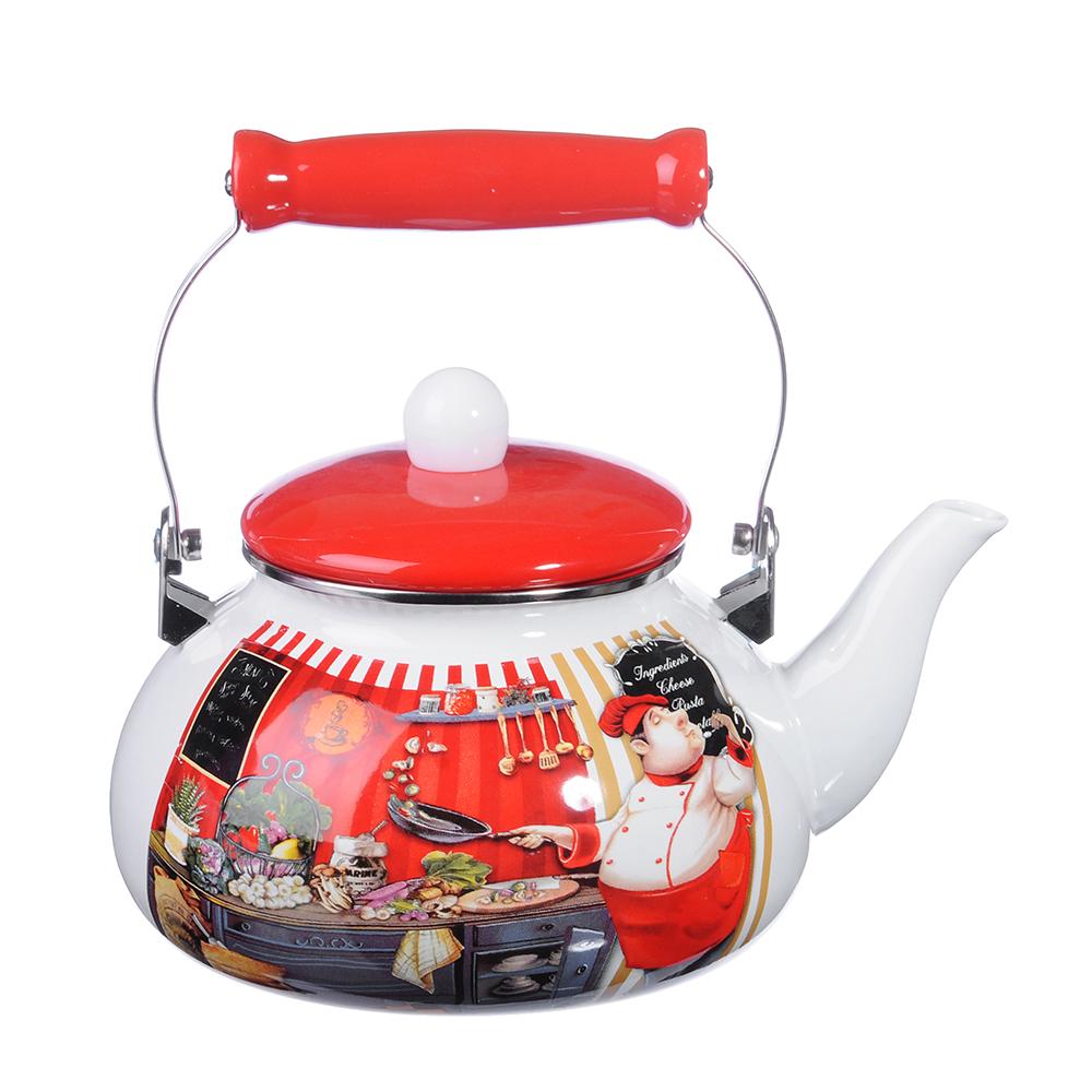 Чайник 2,5 л VETTA Повар, эмалированный, индукция