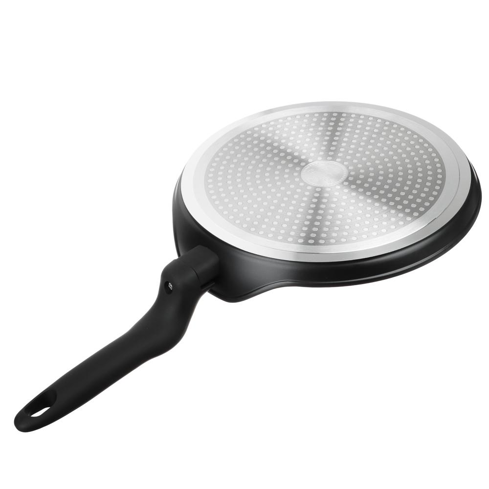 Сковорода блинная d.24 см SATOSHI Стоун, антипригарное покрытие мрамор, индукция