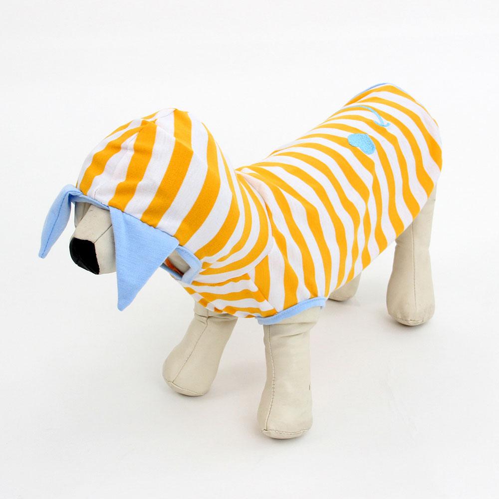 Футболка для животных Смайл с капюшоном, полиэстер, длина по спинке 30, 35, 40см, 2 цвета