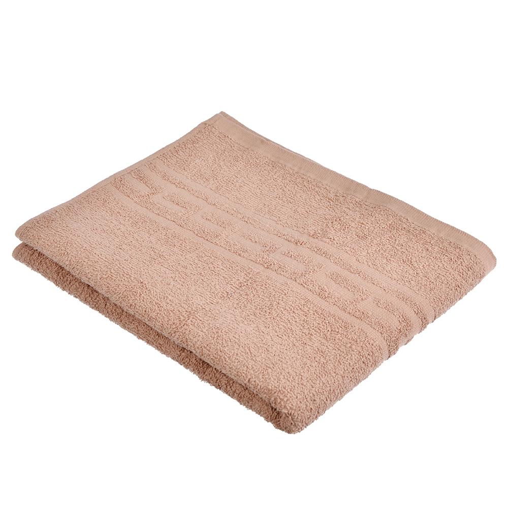 """Полотенце для лица махровое, хлопок, 50х80см, коричневое, """"Лайт"""""""