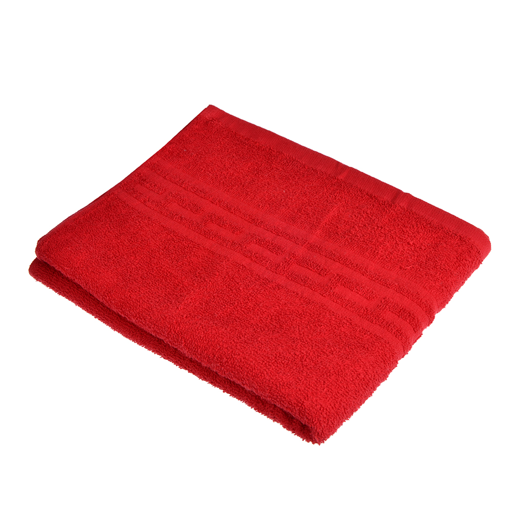 """Полотенце для лица махровое, хлопок, 50х80см, красное, """"Лайт"""""""