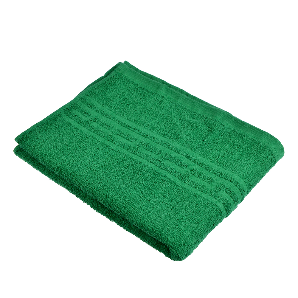 "Полотенце для лица махровое, хлопок, 50х80см, зеленое, ""Лайт"""