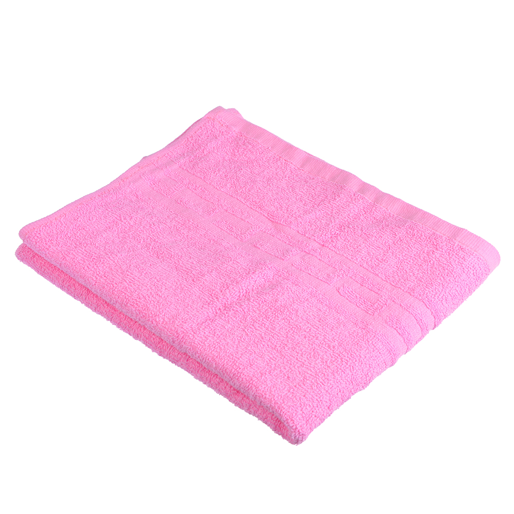 "Полотенце для лица махровое, хлопок, 50х80см, розовое, ""Лайт"""
