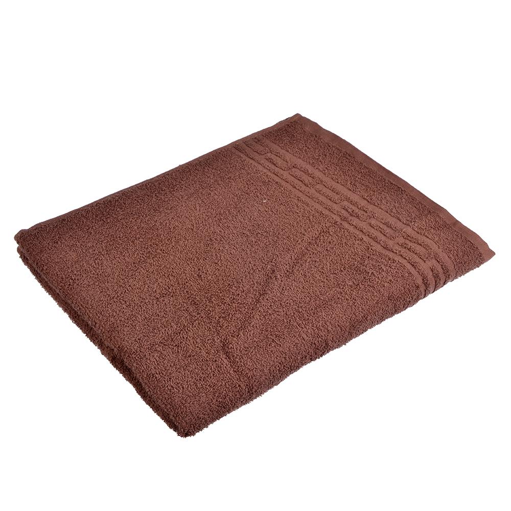 """Полотенце банное махровое, хлопок, 60х130см, коричневое, """"Лайт"""""""
