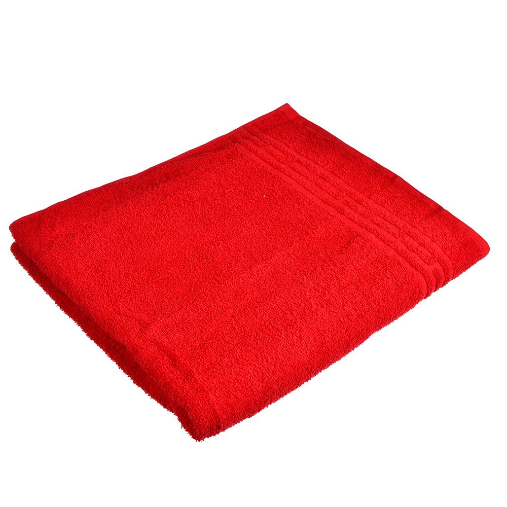 """Полотенце банное махровое, хлопок, 60х130см, красное, """"Лайт"""""""