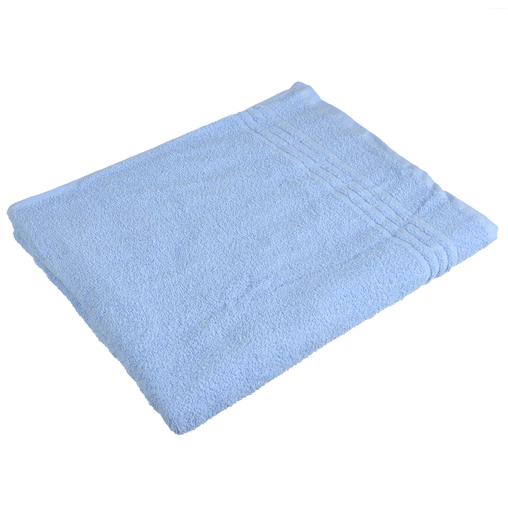 """Полотенце банное махровое голубое """"Лайт"""" 60х130см"""
