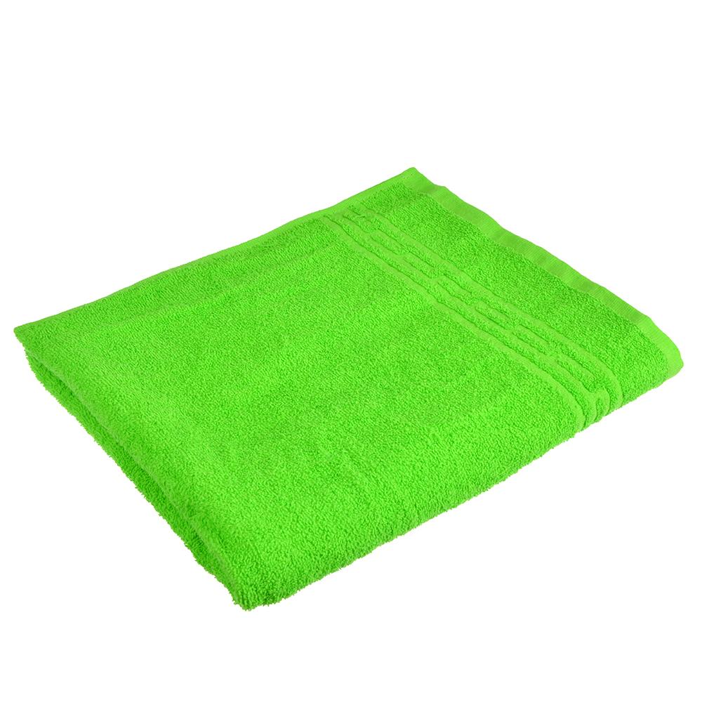 "Полотенце банное махровое, хлопок, 60х130см, зеленое, ""Лайт"""