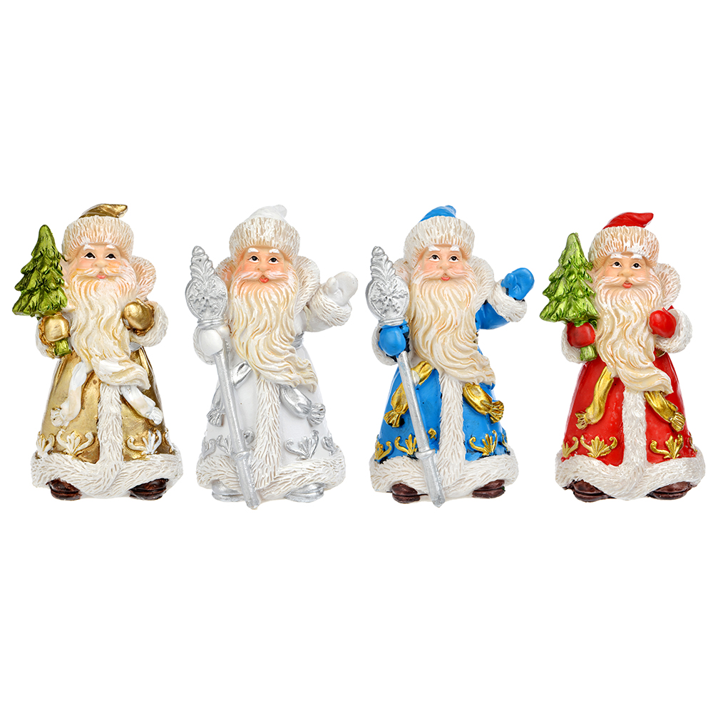 СНОУ БУМ Сувенир в виде Деда Мороза, 10,7см, полистоун, 4 дизайна
