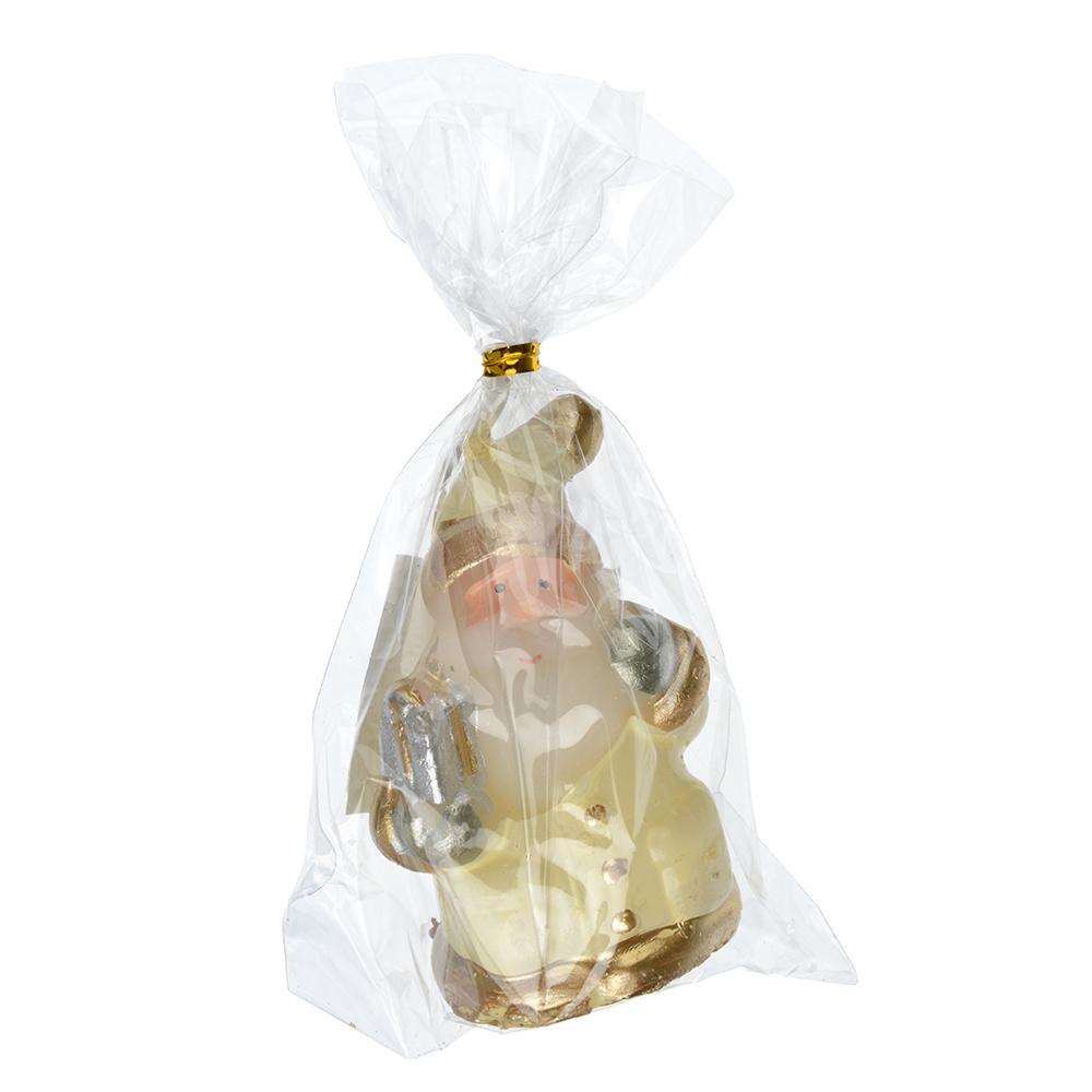 СНОУ БУМ Свеча в виде Деда Мороза в подарочной упаковке, 6,5см, парафин, 4 дизайна, шампань