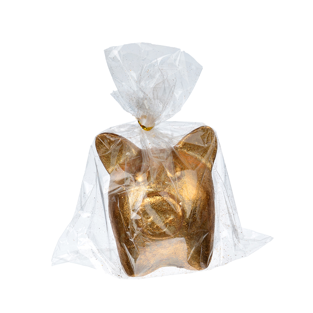 СНОУ БУМ Сувенир в виде свинки, 9х10х9,5см, полистоун, бронза