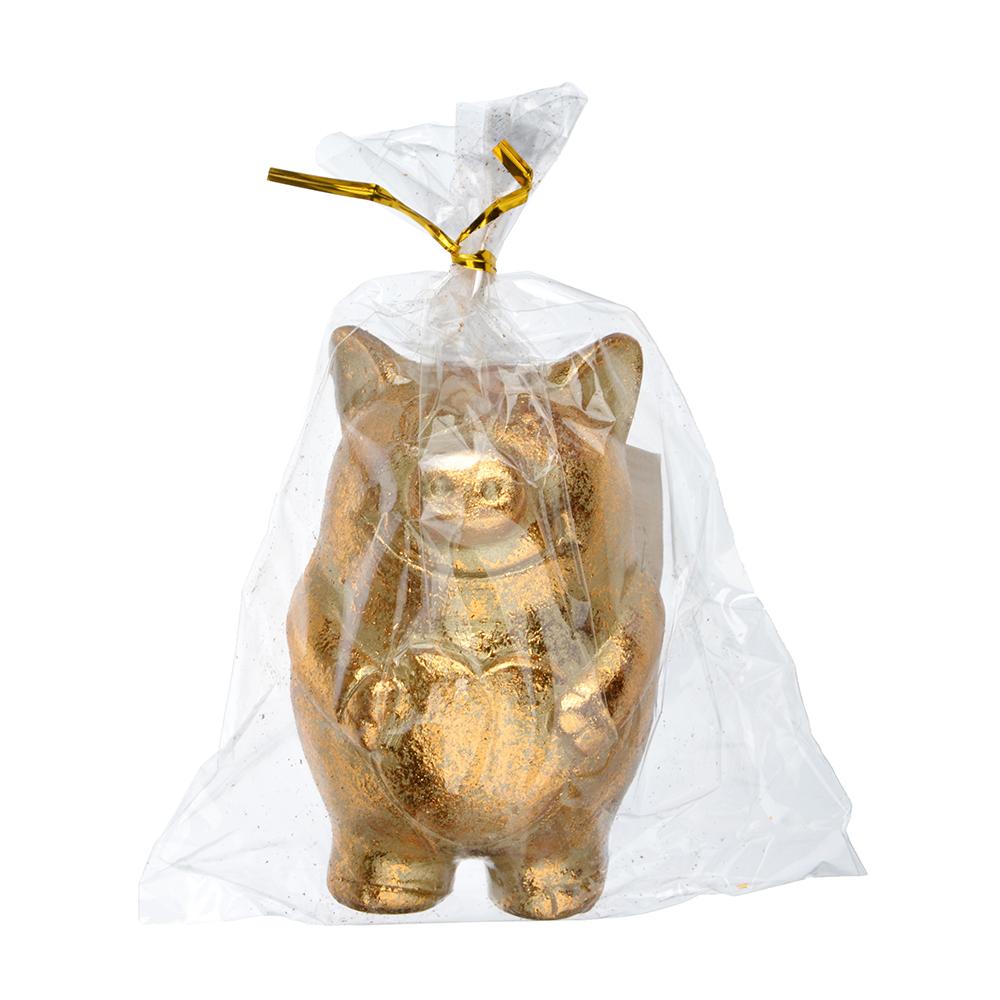 СНОУ БУМ Сувенир в виде свинки с сердечком, 6х5,2х8,2см, полистоун, бронза