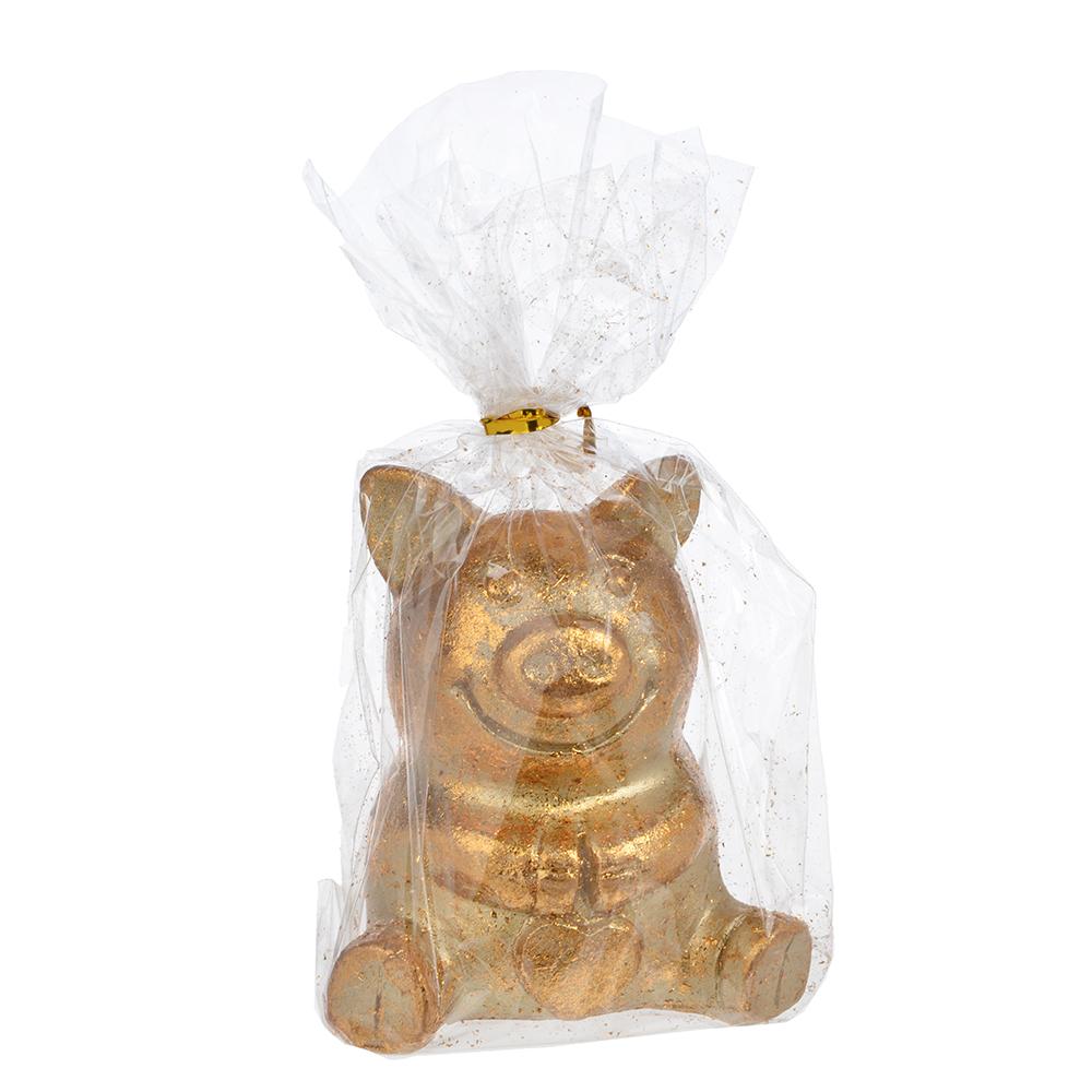 СНОУ БУМ Сувенир в виде сидящей свинки, 6,5х4,9х7см, полистоун, бронза