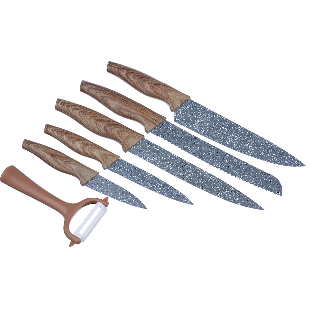 Набор ножей кухонных SATOSHI Алмаз, 6 предметов, в магнитной коробке
