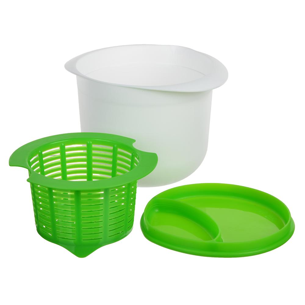 Емкость для приготовления творога, сыра 17х12см, пластик, силикон