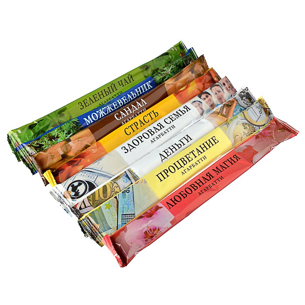 Аромапалочки 8 шт в мягкой упаковке, 9 ароматов, NR-10