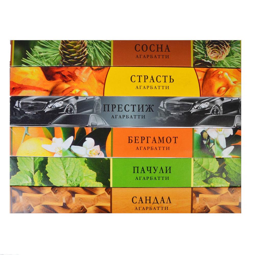 Аромапалочки в прямоугольной упаковке, 18 ароматов, NR-20