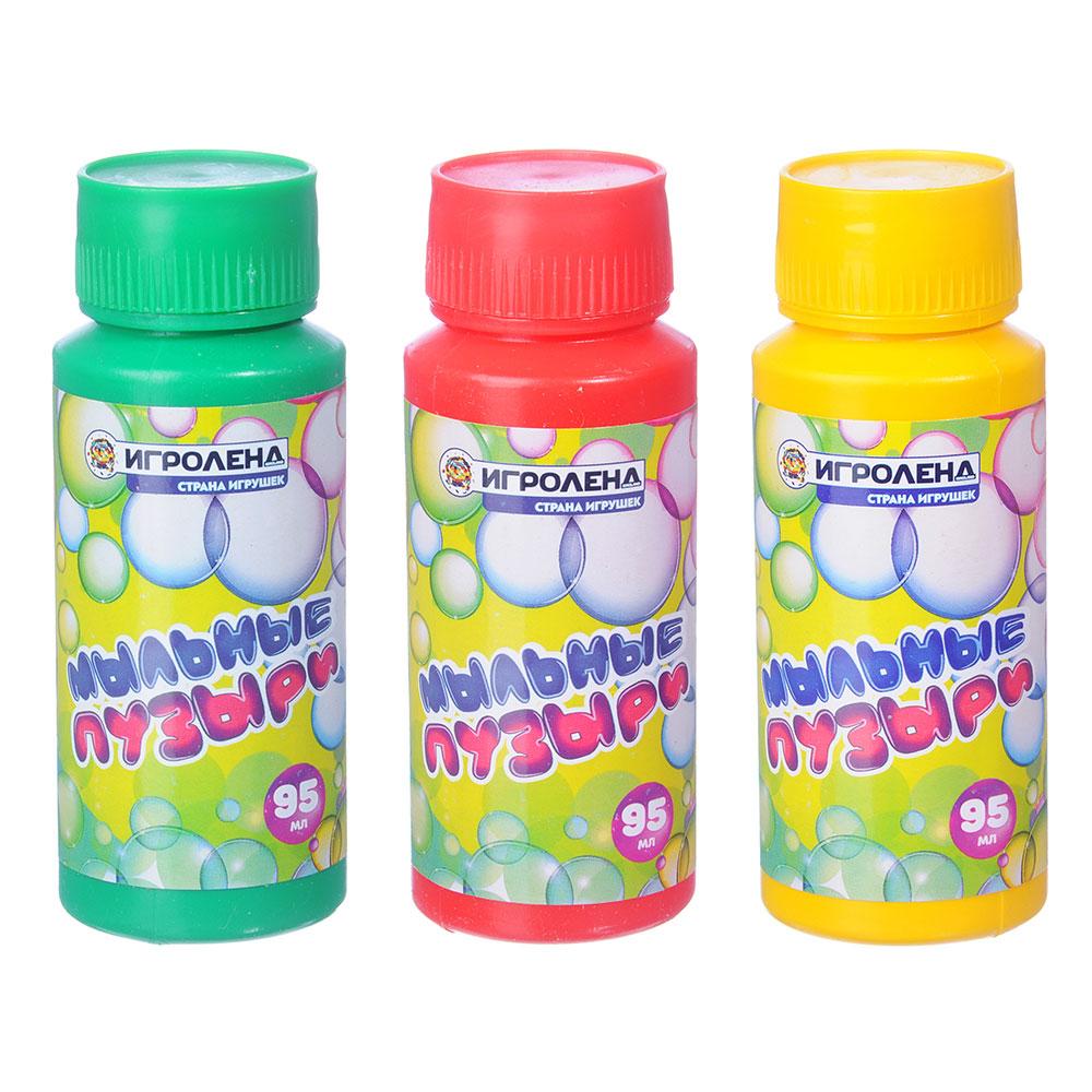 ИГРОЛЕНД Мыльные пузыри, 95мл, мыльный раствор, пластик