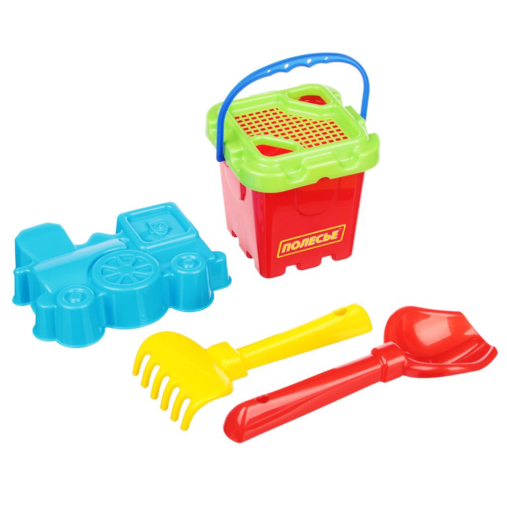 ПОЛЕСЬЕ Набор для песочницы с Малым ведром 5-7 пр., пластик, 13х18х14см, 3 дизайна