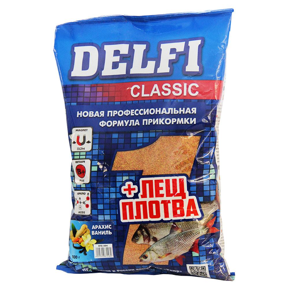 DELFI прикорм CLASSIC  для леща и плотвы, с ароматом арахиса, ванили, 800гр DFG004